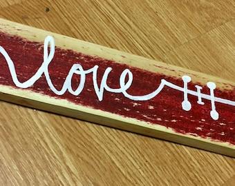 Love Arrow Word Art