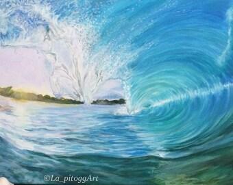 Waves - original acrylic painting