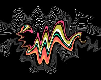 """WAG no.35 - """"Freestyle"""" - 12"""" by 22"""" panoramic print"""
