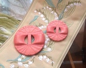Vintage Pink Wood Buttons...