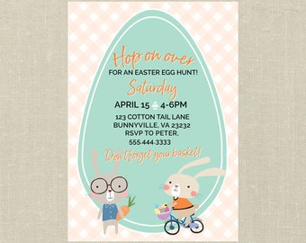 Easter Egg Hunt Invitation and Matching Signs--Printable Invitation, Signs, Easter Egg Hunt Signs, Printable Signs, Party Printables