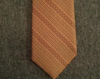 Vintage 70's Yves Saint Laurent Paris Rivoli Silk Necktie