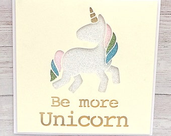 Unicorn Birthday Card - Unicorn Card - Unicorn Art - Unicorn Friend Card - Birthday Card for her - Birthday Card for Daughter