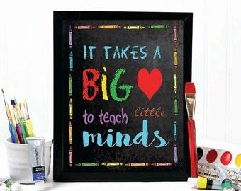 TEACHER GIFT, teacher appreciation, teacher prints, gift for teacher, teacher, teacher printable, chalkboard print, gift ideas