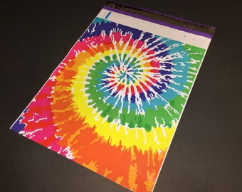200 Designer10x13 TIE DYE Rainbow Poly Mailers Envelopes Shipping Bags