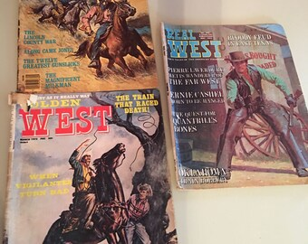 Vintage Real West Magazines - set of three