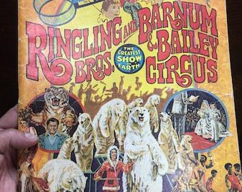 1976 Ringling Bros and Bailey Circus Souvenir Program . Vintage circus . Antique circus