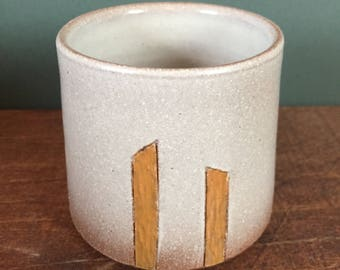 Cup with Hand Carved Orange Design