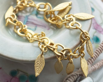 Gold chain bracelet, Greek goddess jewelry