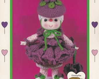 Raspberry Fluff, Dumplin Designs Lollipop Lane Crochet Doll Pattern Booklet CDC410