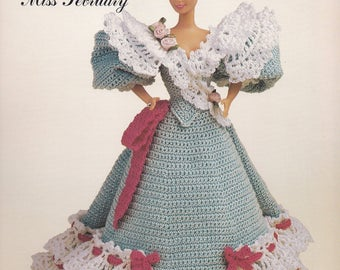 Miss February 1994, Annie's Gibson Girl of the Gay Nineties Crochet Doll Clothes Pattern Booklet 7702C