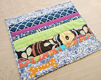 "Scrappy Quilted Dog Placemat - 12"" x 15"""