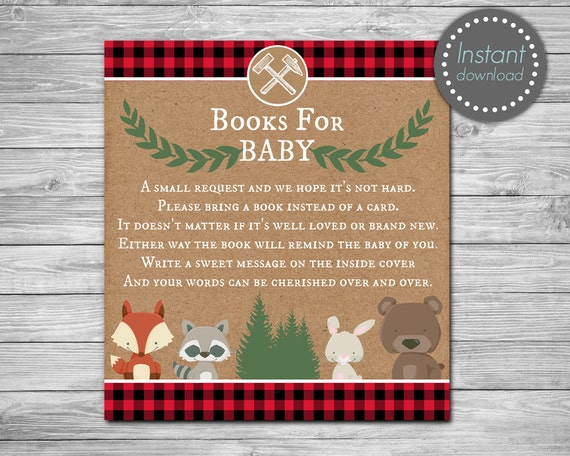 book instead of card baby shower book request bring a book cards