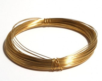 Summer Sale 10Feet 24k Gold Plated .4/.6/.8 mm Thick Wire By Foot