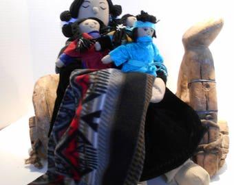 Native American Story Teller Doll,storyteller, rag doll