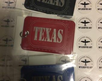 Luggage Tag - TEXAS - Aluminum