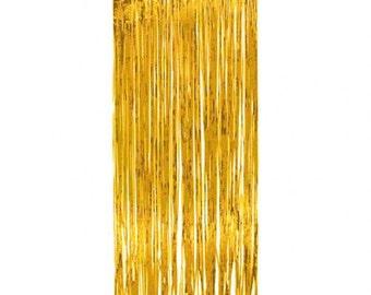 Gold Foil curtain - foil backdrop - gold foil backdrop - photo props