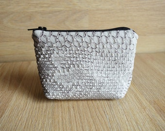 Effect grey wallet croco
