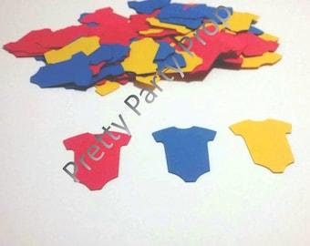 Baby superman party confetti,  super man baby shower confetti CUSTOMIZE YOUR COLOR  150 pcs