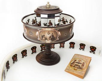 Praxinoscope Victorian Optical Toy - Steampunk Science Device Zoetrope