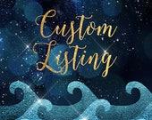 Custom Listing for lequack18 - Floral/Glitter