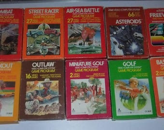 Atari Video Computer Games boxed trade collection lot