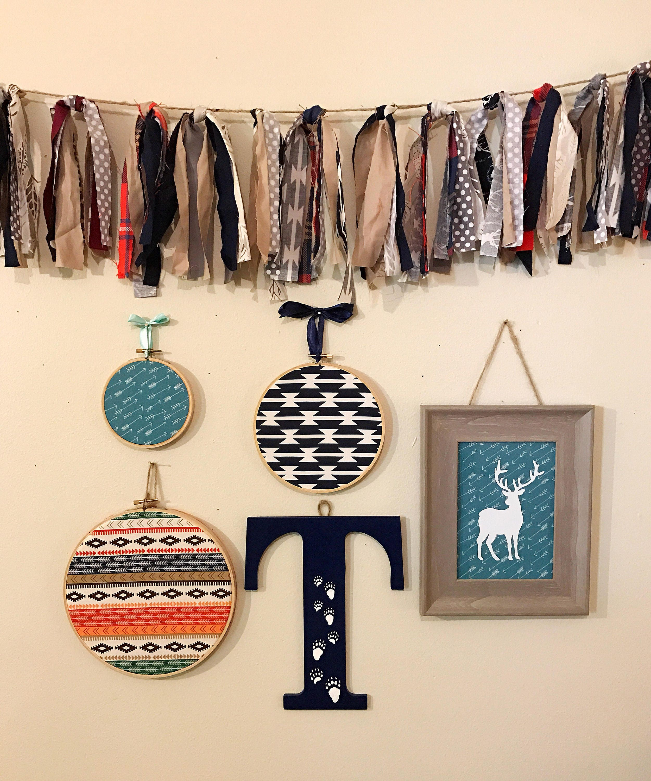 Nursery wall decor 95 letter t navy with white bear paw prints nursery wall decor 95 letter t navy with white bear paw prints wall amipublicfo Image collections
