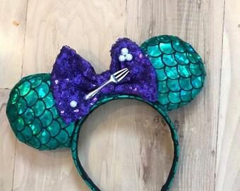 Ariel Mermaid Inspired Mouse Ears