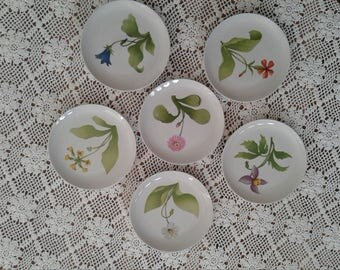 Salad plates, Tuileries (3 pc), Japanese floral motive