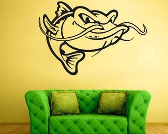 rvz2068 Wall Vinyl Decal Sticker Bedroom Decal China Symbol Fish