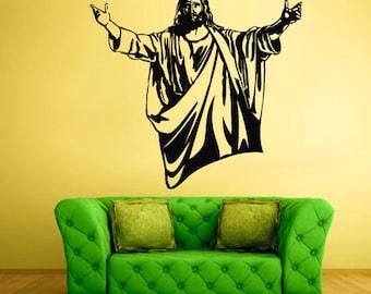 rvz2134 Wall Vinyl Decal Sticker Cross Prayer Pray God Jesus Christianity