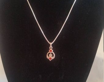 Celtic Claddagh pendant with Chain