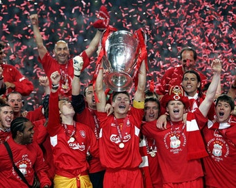 Liverpool Champions League Winning Canvas