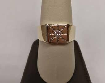 10K Vintage Men's Diamond Ring