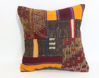 Sofa Pillow Big Pillow Decorative Kilim Pillow 20x20İnc Kilim Pillow Chic Pillow Ethnic Pillow Throw Pillow Cushion Cover SP5050-1083
