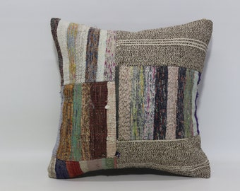 Bohemian Kilim Pillow 20x20 Sofa Pillow Fllor Pillow Ethnic Pillow Throw Pillow Cushion Cover Cotton Pillow Cushion Cover SP5050-1099