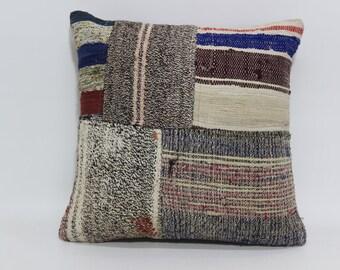 Handwoven Turkish Cushion 20x20 Bohemian Kilim Pillow Decorative Turkish Kilim Pillow Bed Pillow Home Decor SP5050-1311