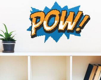 8 Bit Pow Wall Decal