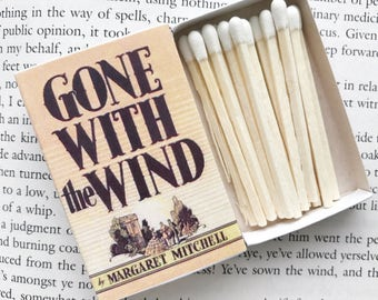 Gone with the Wind Book Matches // Margaret Mitchell // Stocking Stuffers