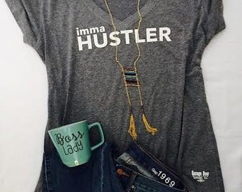 Hustler Women's Deep Vneck Tee