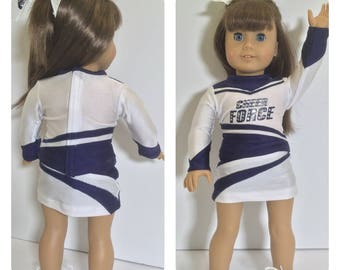 Custom Order, Doll Cheer Outfit, Fits like American Girls Doll clothes, Deluxe Cheer, Prices vary, 18 inch doll Cheer Uniform
