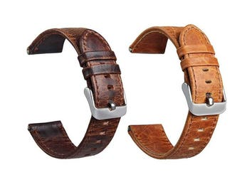 Genuine Leather 20 mm watch strap band