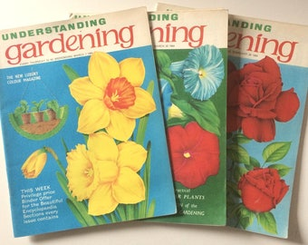Trio of 1960s Understanding Gardening Magazines February/March 1964