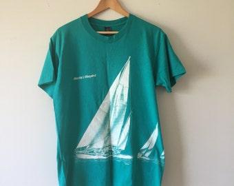 90's Teal Sailing Tshirt