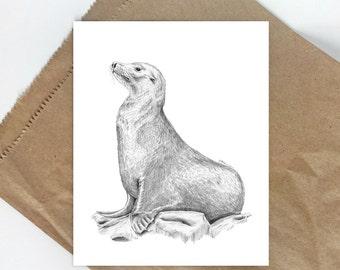 Sea Animal Print, Beach Animal Decor, Sea Life Art, Sea Animals, Sea Animal Decor, Kids Wall Art, Sea Lion, Beach Nursery, Ocean Nursery Art
