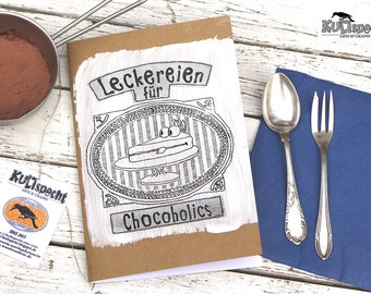 Cooking recipes, notebook-cooking, present  cook, kitchen, retro book, retro-cooking, fish recipes, Mother gift, kraft paper brown,