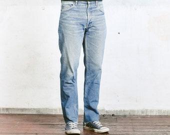 Men High Waist Jeans . Vintage 80s Denim Jeans High Waisted Jeans Boyfriend Wear Everyday Clothing Mens Denim Trousers . W32 L32
