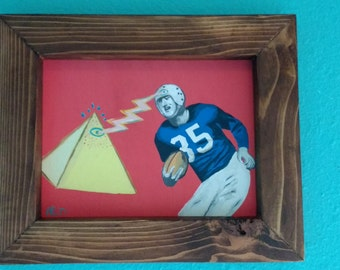 Football Illuminati #2- Outsider, Folk art, handmade