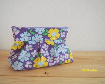 Vintage fabric handmade pouch
