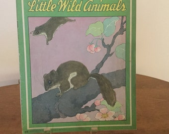 Little Wild Animals 1943 Iinen pages